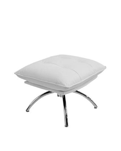 Furniture Contempo Dakota Ottoman, White