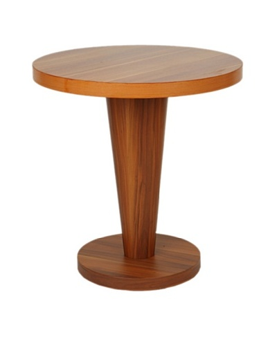 Furniture Contempo Basil Round Side Table, Cherry