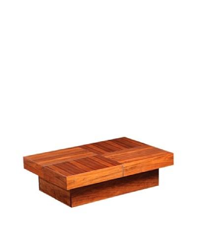Furniture Contempo Abby Rectangle Coffee Table, Walnut