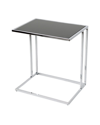 Furniture Contempo Marry Side Table, Black/Chrome
