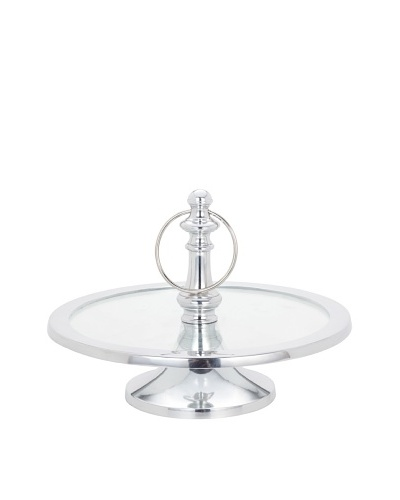 Torre & Tagus 1-Tier Ring Glass Pedestal Stand