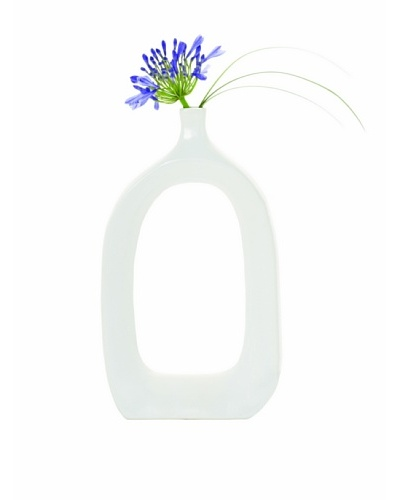 Torre & Tagus Open Vase, White, Tall