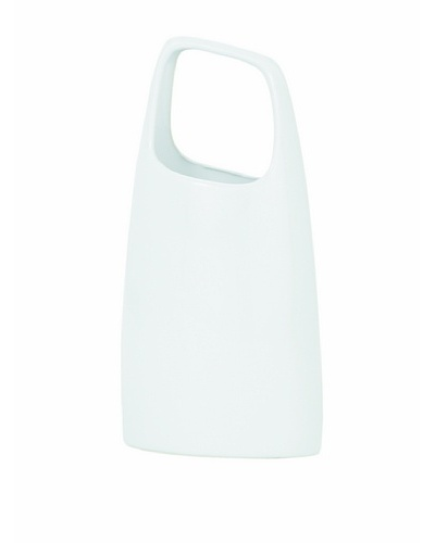 Torre & Tagus Handle Vase, White, Short