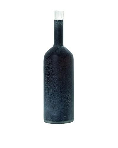 Torre & Tagus Black Tall Frost Bottle Vase