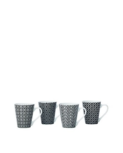 Torre & Tagus Set of 4 Deco Graphic Mugs