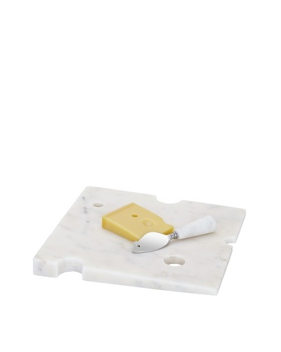 Torre & Tagus Wedge Marble Cheese Board With Mouse Knife