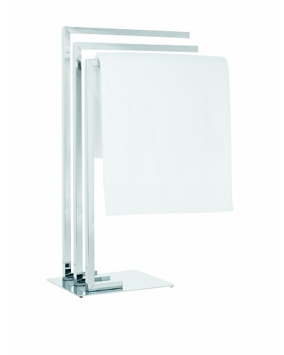 Torre & Tagus Metro Chrome 3-Tier Towel Stand, Chrome