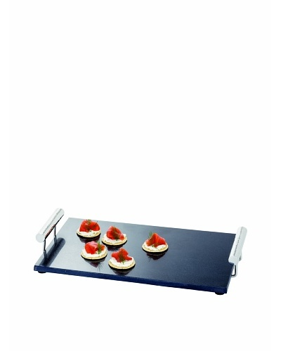 Torre & Tagus Mason Marble Tray with Stainless Steel Handles