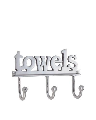 Torre & Tagus Towel Font 3-Peg Wall Hook