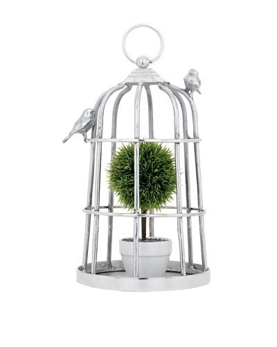 Torre & Tagus Birdcage Décor, Silver