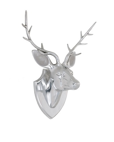 Torre & Tagus Stag Head Wall Décor, Silver
