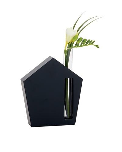 Torre & Tagus House Glass Tube Bud Vase, Black