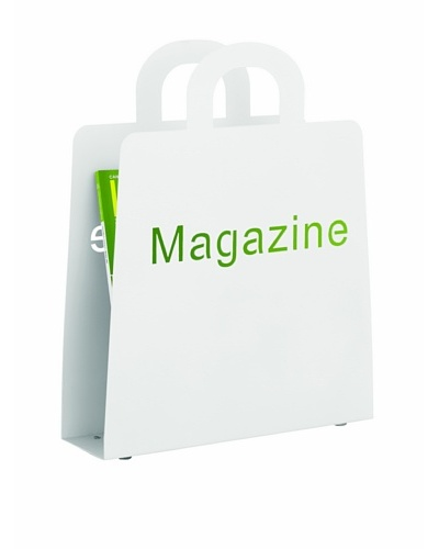 Torre & Tagus Cut-Out Magazine Rack, White
