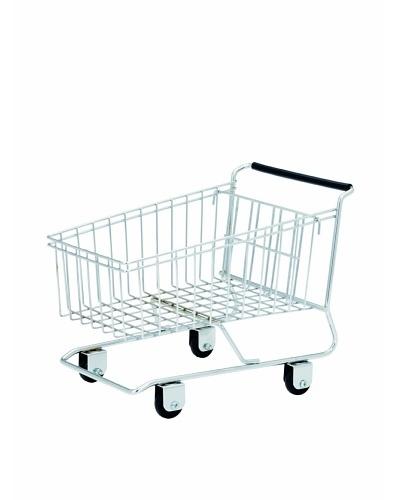 Torre & Tagus Shopping Cart Basket, Silver