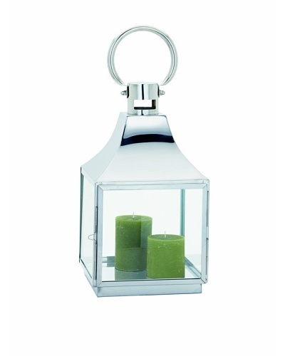 Torre & Tagus Portico Lantern, Silver, Small