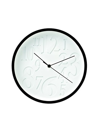 Torre & Tagus Embossed Number Round Wall Clock