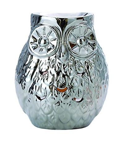 Torre & Tagus Owl Chrome Ceramic Oil Burner
