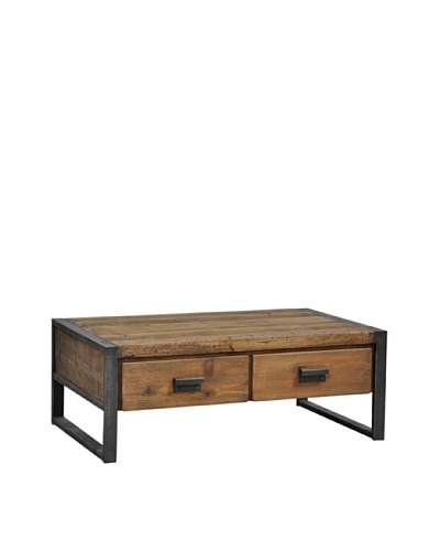 Tottenham Court Barbara 2-Drawer Coffee Table, Natural