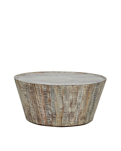 Tottenham Court Hampton Barrel Coffee Table, Lime Wash