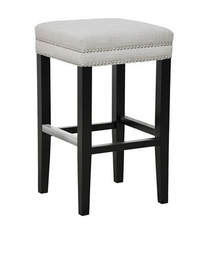 Tottenham Court Caroline Backless Bar Stool, Ivory