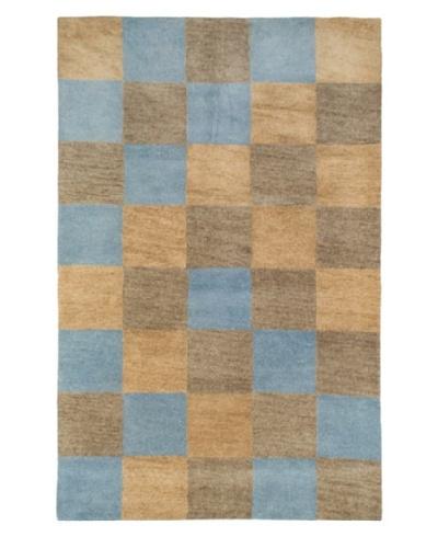Tottenham Court Aspen Rug, Brown/Blue, 8' x 11'