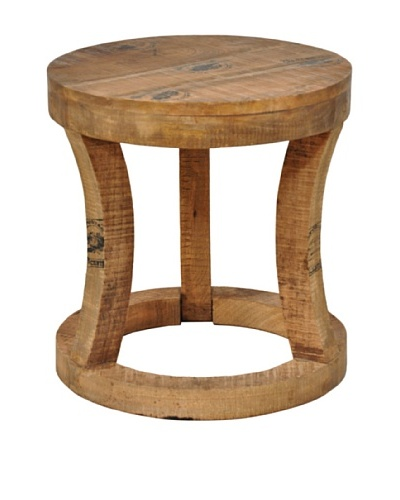 Tottenham Court France Round Stool, Natural