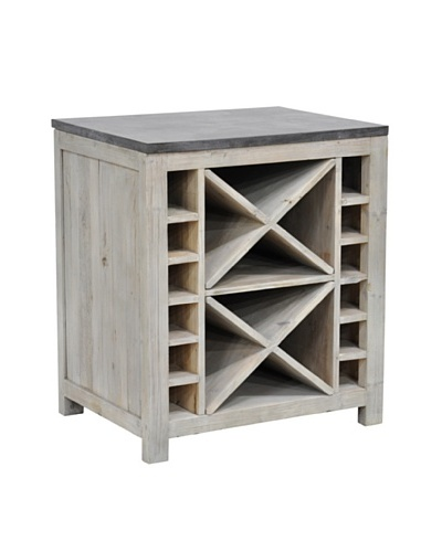 Tottenham Court Ava Wine Rack, Natural Grey