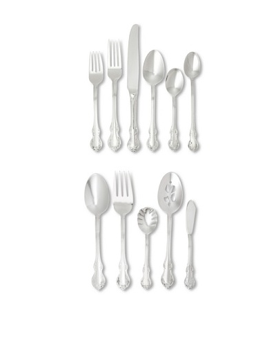 Towle 55-Piece Mia Flatware Set, Silver