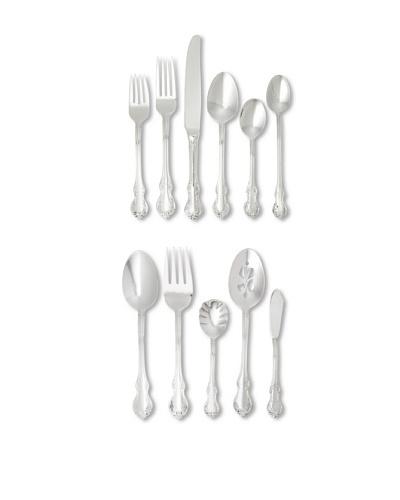 Towle 55-Piece Mia Flatware Set, Silver