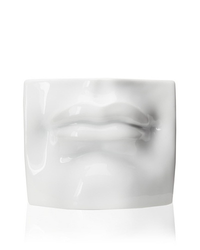 Tozai Sensual Mouth Wall Sculpture by Fabienne Jouvin, WhiteAs You See