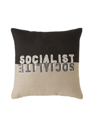 Tozai Wordplay Pillow, Black/GrayAs You See