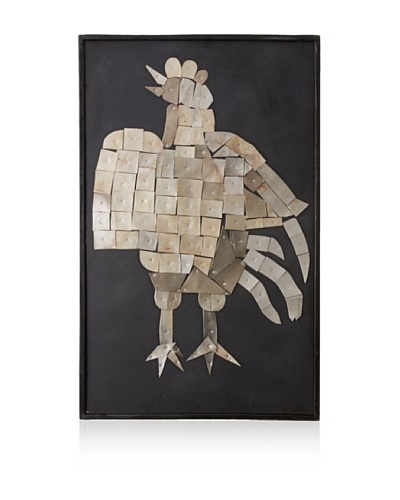 Tozai Rooster Rustic Collage Wall Art, Gray/Black