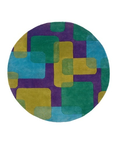 Trade-Am Vibrance Round Rug [Purple]