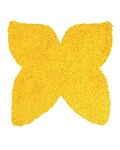 Trade-Am Senses Shag Butterfly Rug, Yellow, 5' Round
