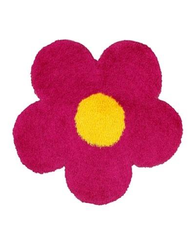 Trade-Am Senses Shag Flower Rug, Pink, 4' Round