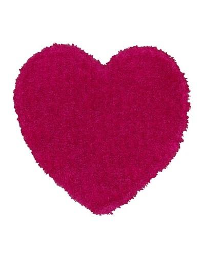 Trade-Am Senses Shag Heart Rug, Pink, 4' Round