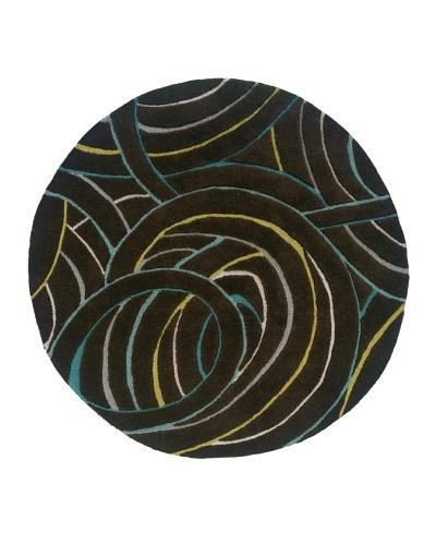 Trade-Am Vibrance Miami Round Rug [Black]