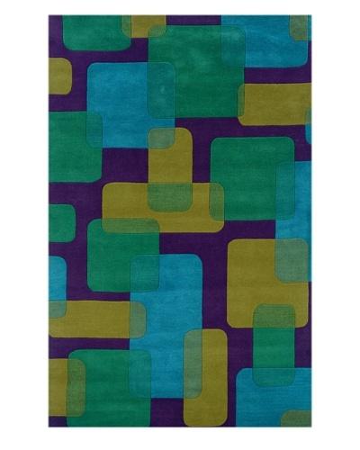 Trade-Am Vibrance Rectangle Rug [Purple]