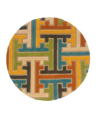 Trade-Am Vibrance Round Rug [Beige]