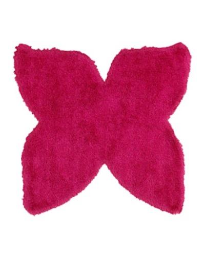 Trade-Am Senses Shag Butterfly Rug, Pink, 5'
