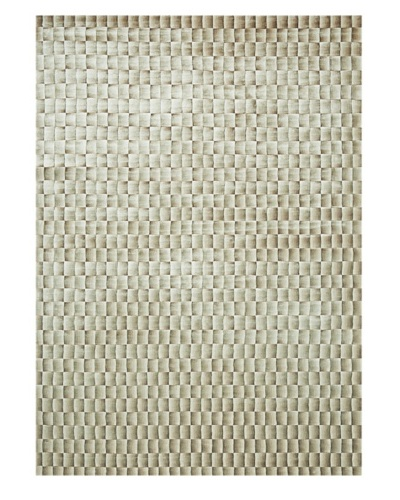 Trade-Am Illusion Bamboo Viscose Silk Rug [Beige/Brown]