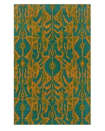 Trade-Am Vibrance Rectangle Rug [Blue]
