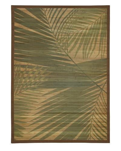 Trade-Am Printed Palm Tree Rug, Natural, 5' x 7'