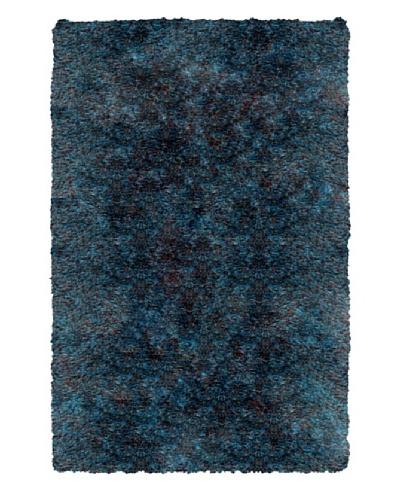 Trade-Am Senses Shag Rug, Chocolate/Teal, 7' 9 x 9' 9