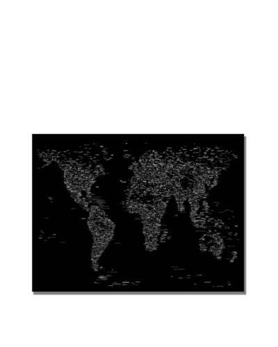 Trademark Art Michael Tompsett Font World Map III Canvas Art