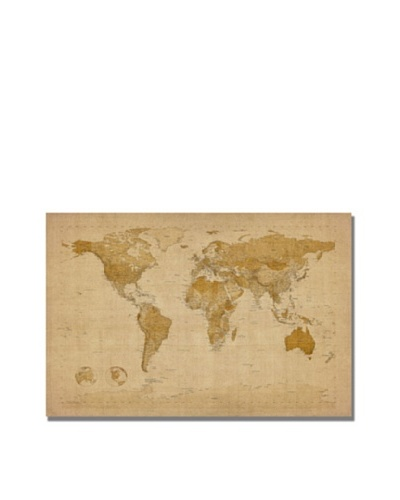 Trademark Art Michael Tompsett Antique World Map Canvas Art