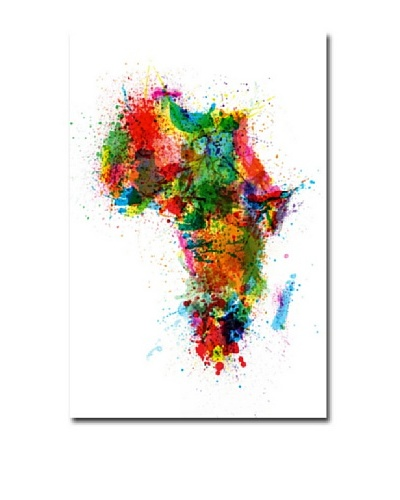 Michael Tompsett Trademark Art Africa Paint Splashes Canvas Art