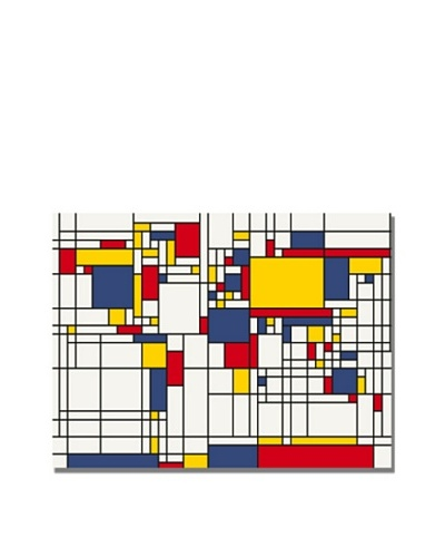 Trademark Art Michael Tompsett Mondrian World Map Canvas Art