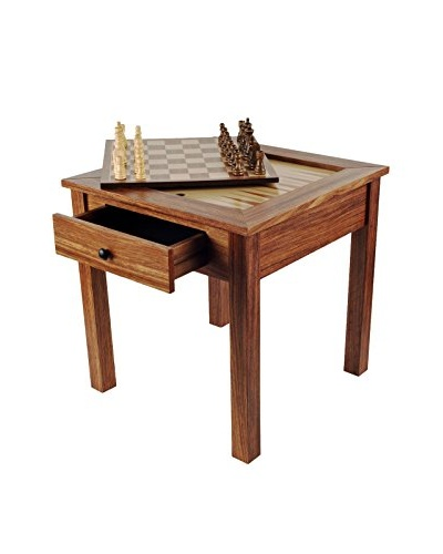Trademark Games Wood 3-in-1 Chess Backgammon Table