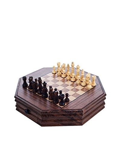 Trademark Global Octagonal Chess and Checkers Set